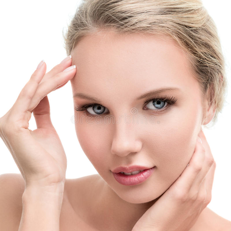 Jeune femme avec la peau propre parfaite images libres de droits