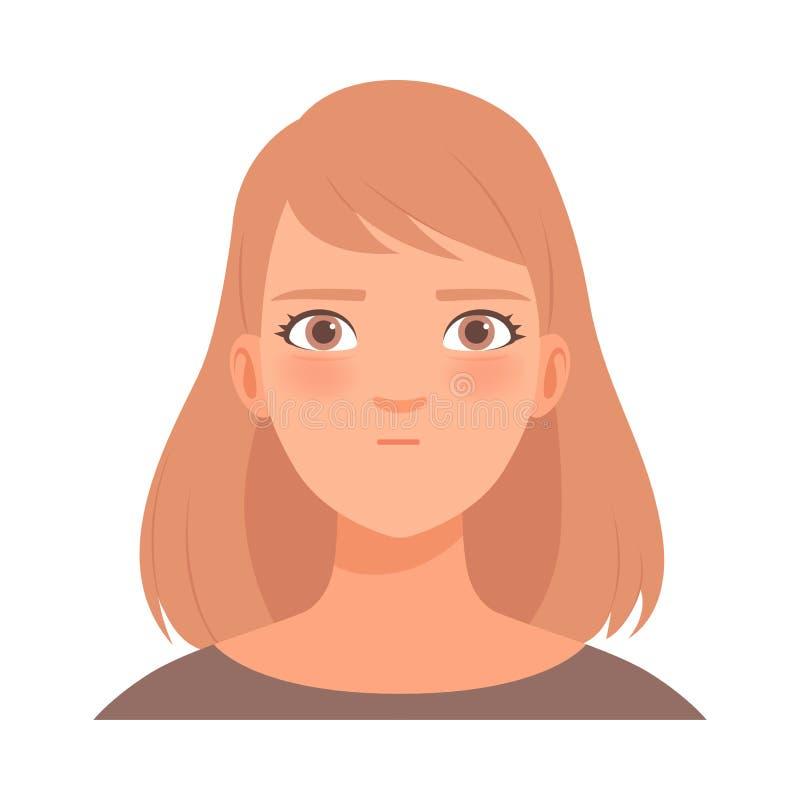 Jeune femme blonde Illustration vectorielle dans le style de dessin animé illustration stock