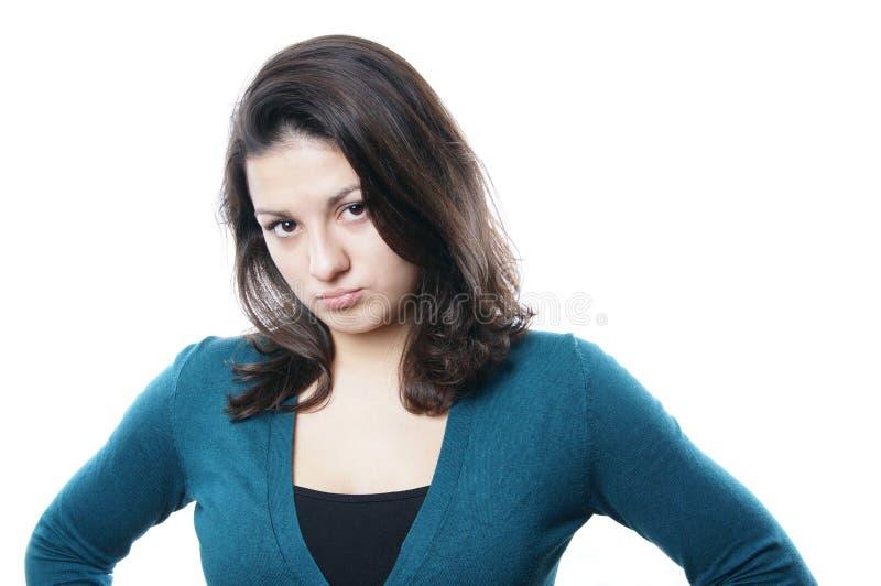 Jeune femme boudant photos libres de droits