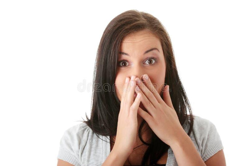 Jeune femme choquée images libres de droits