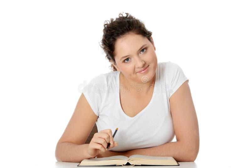 Jeune femme d'étudiant images stock