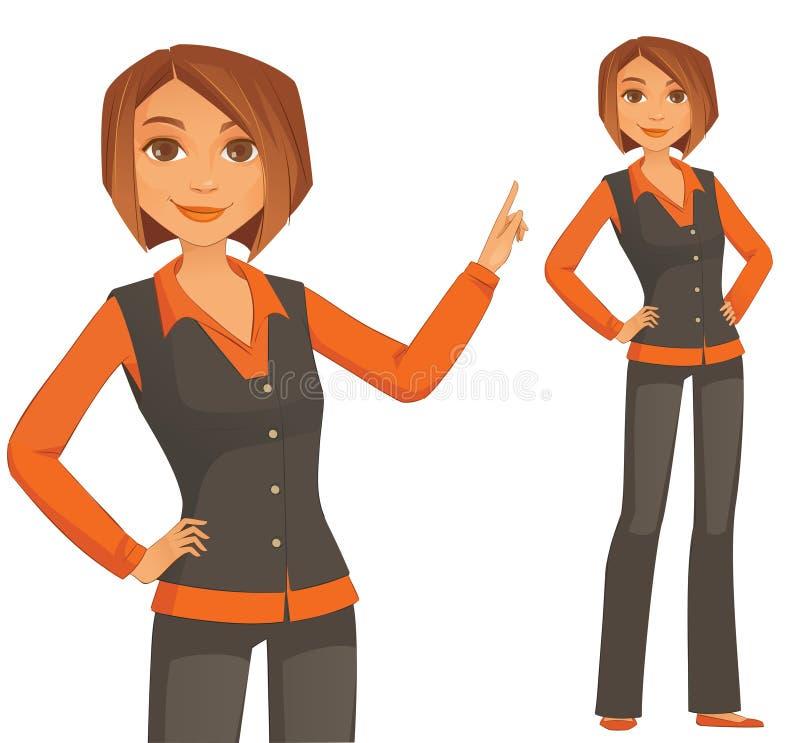 Jeune femme d'affaires illustration libre de droits