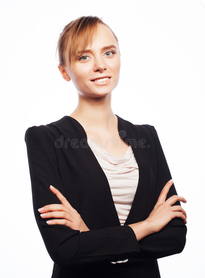 Jeune femme d'affaires photo stock