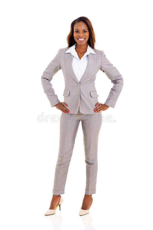 Jeune femme d'affaires africaine photo stock