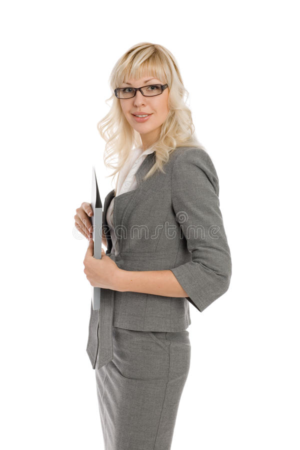 Jeune femme d'affaires attirante image stock