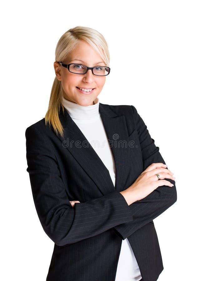 Jeune femme d'affaires gaie. photos stock