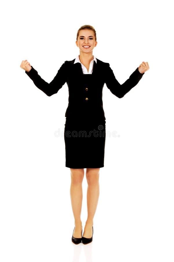 Jeune femme d'affaires heureuse photo libre de droits