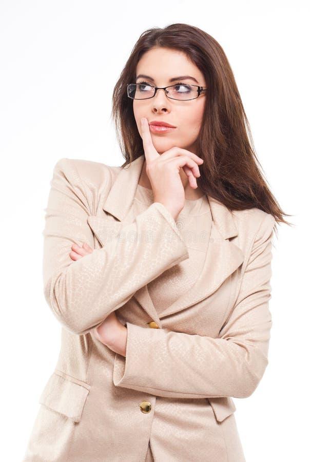 Jeune femme d'affaires sûre. image stock