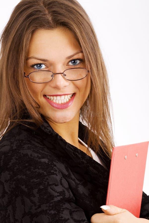 Jeune femme d'affaires smilling photo stock