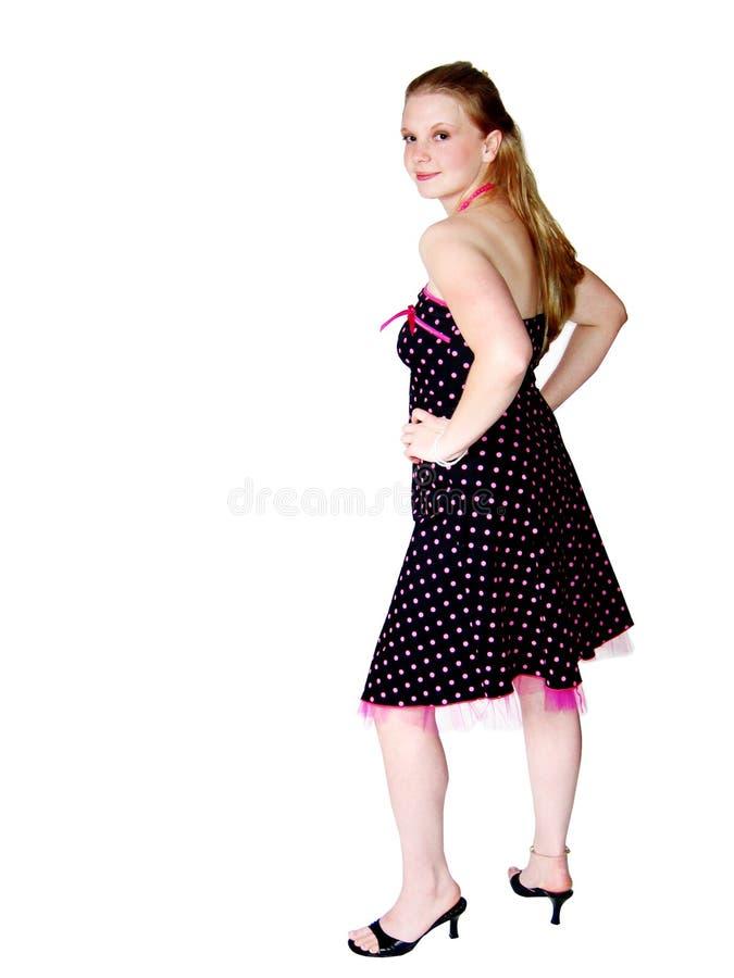 Jeune femme dans la jolie robe images libres de droits