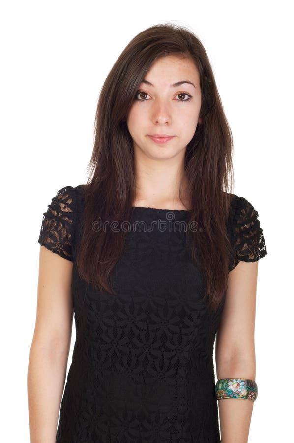 Jeune femme dans la robe photos stock