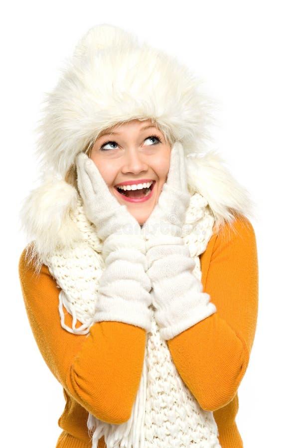 Jeune femme dans le vêtement de l'hiver photo libre de droits