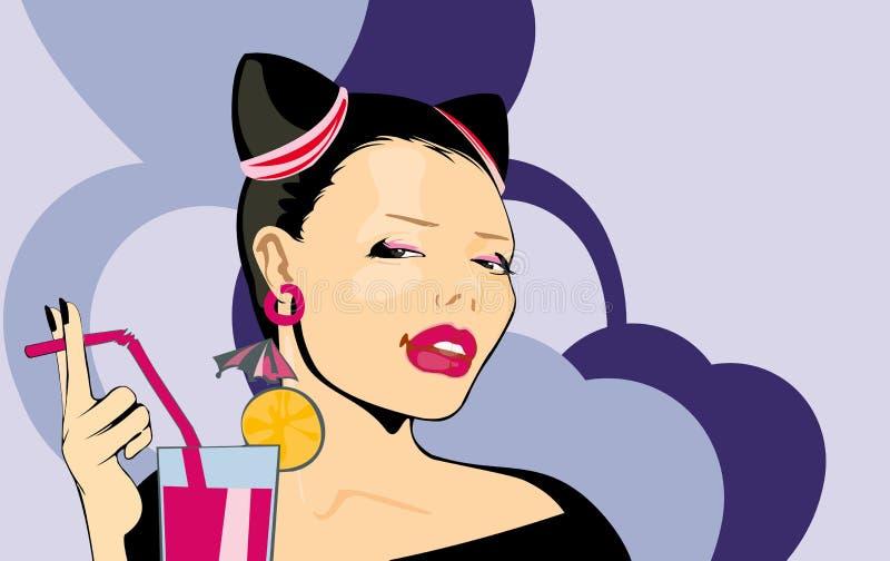 Jeune femme de beauté illustration stock