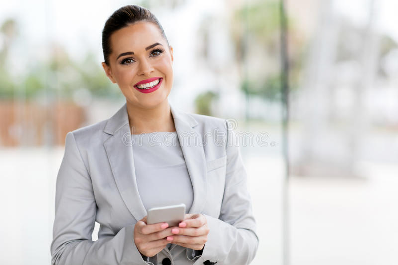 Jeune femme de carrière image libre de droits