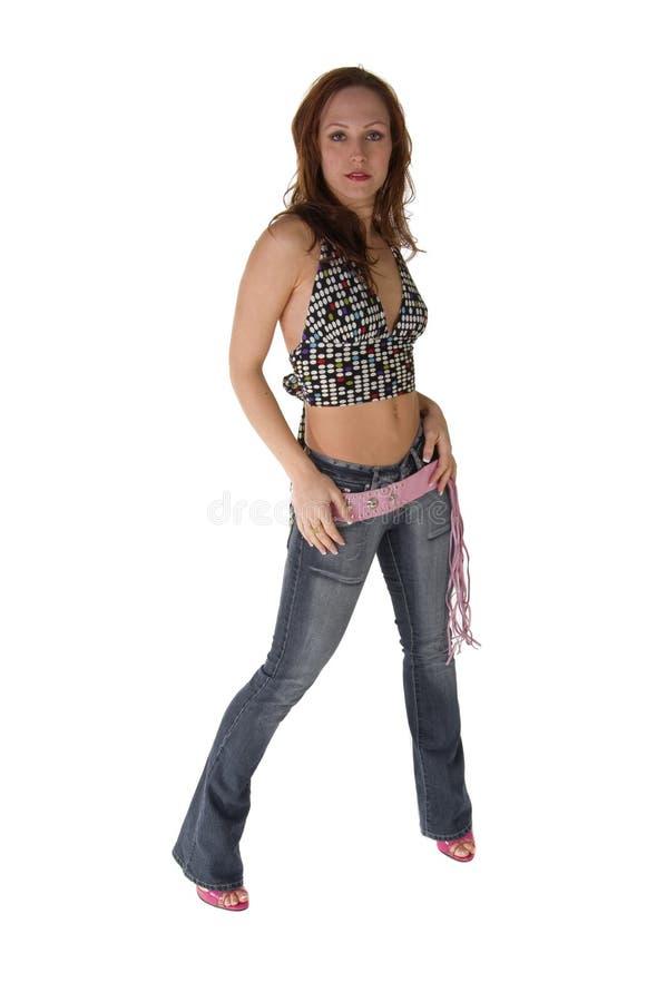 Jeune femme de gratte-cul photo libre de droits