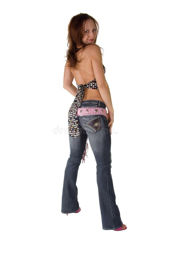 Jeune femme de gratte-cul images stock