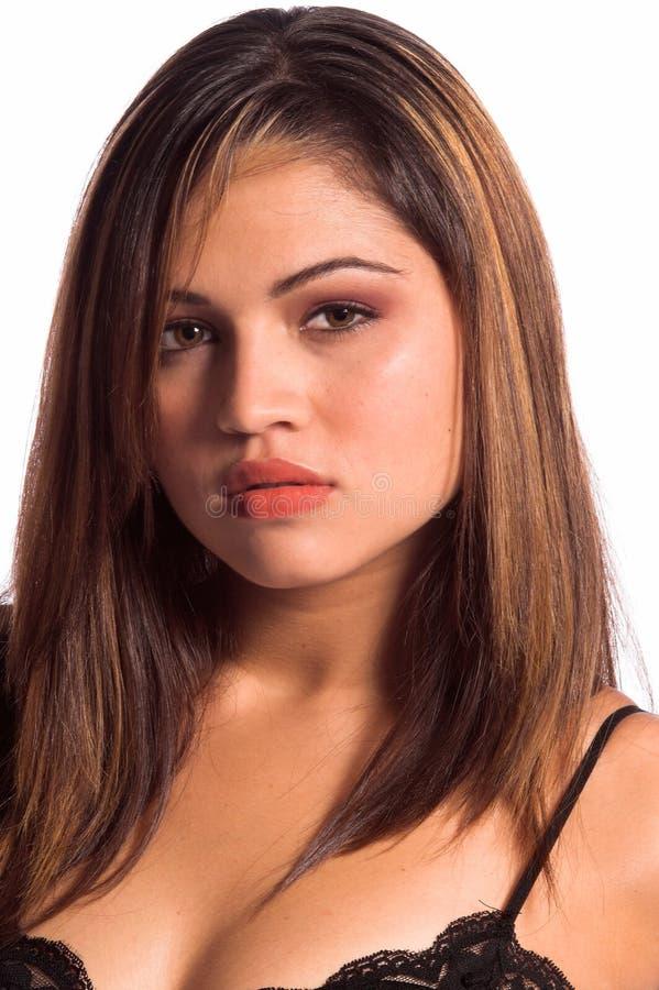 Jeune femme de Latina photographie stock