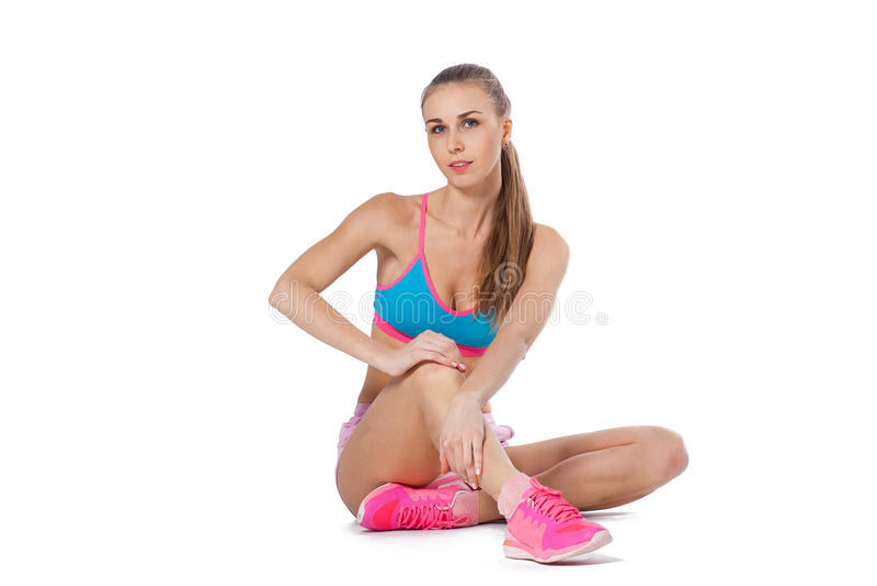 Jeune femme de sport photo libre de droits