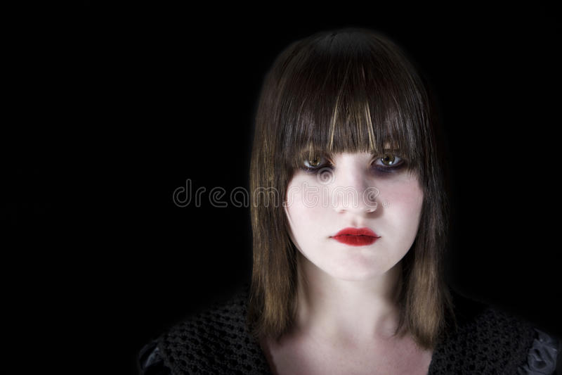 Jeune femme effrayante photos stock