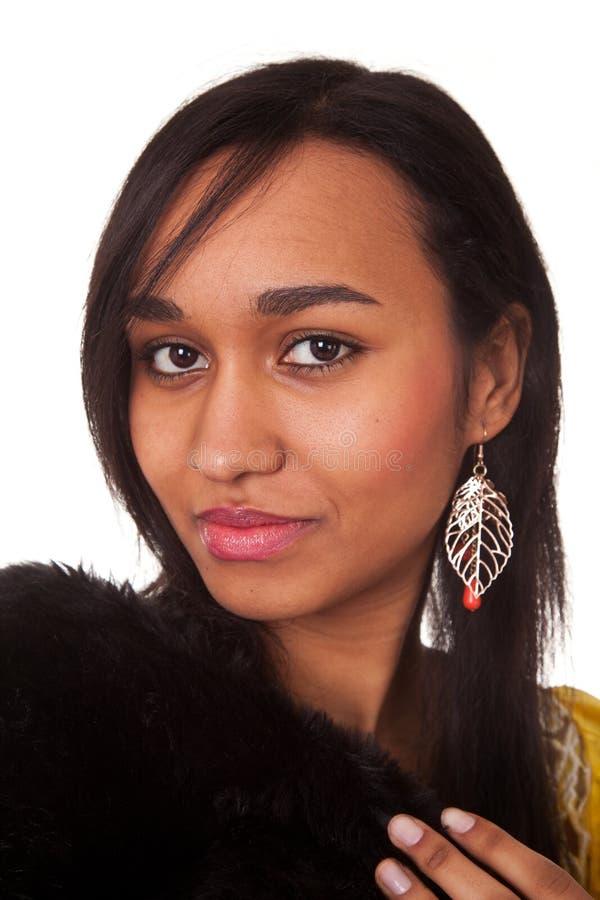 Jeune femme en fourrures images libres de droits
