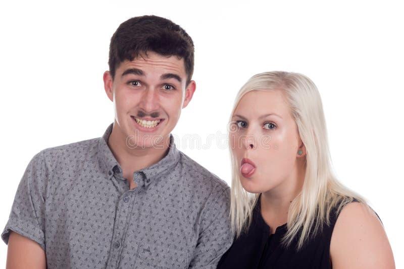 Jeune femme et homme photo stock