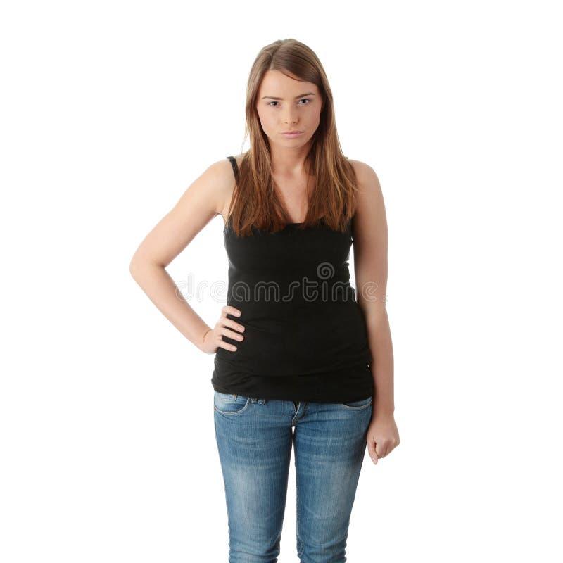 Jeune femme fâchée photographie stock