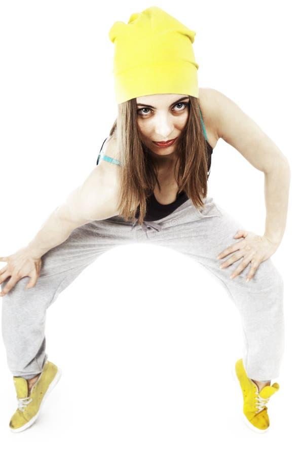 Jeune femme faisant des exercices de sport image libre de droits