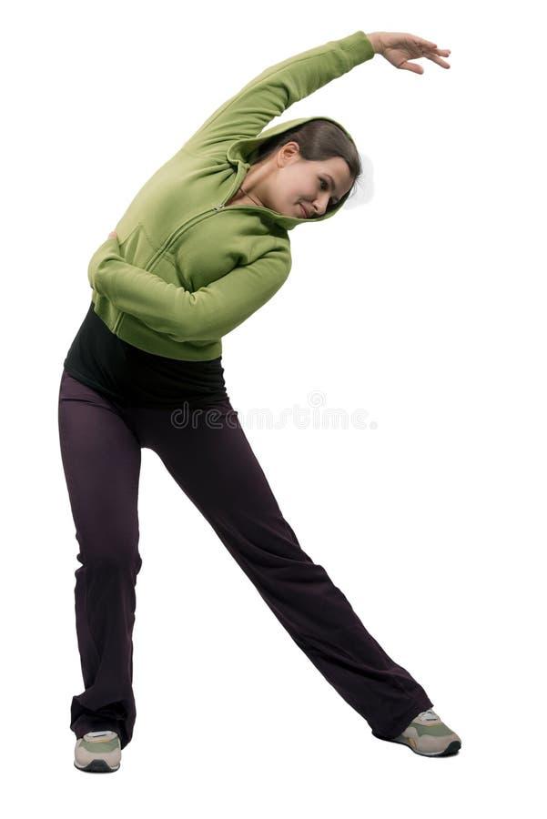 Jeune femme faisant des sports image stock