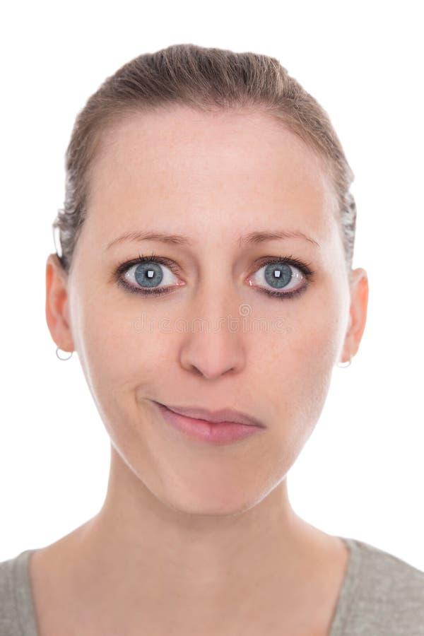 Jeune femme faisant face à des troubles bipolaires, heureux et tristement, deux visages photographie stock libre de droits