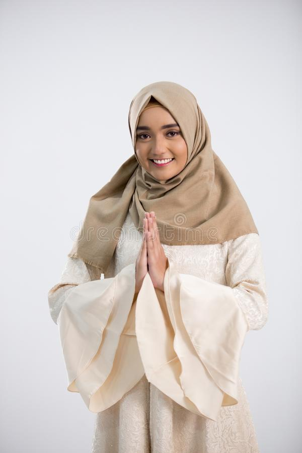 Jeune femme musulmane photo stock