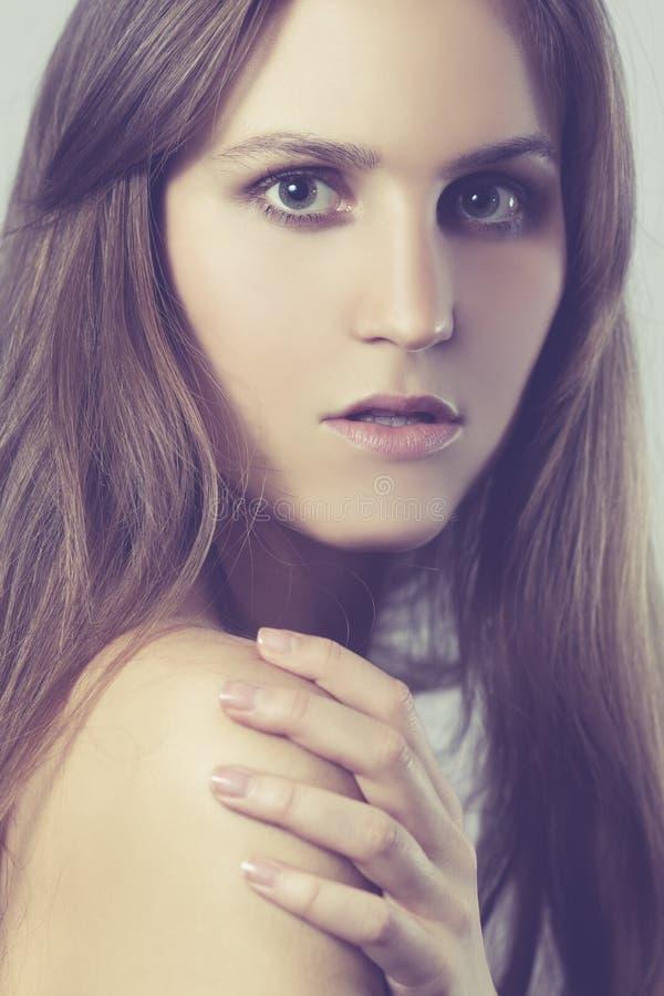 Jeune femme Portrait modèle photo stock