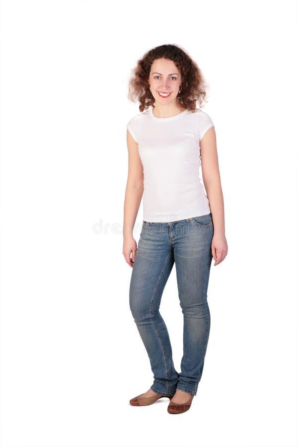 Jeune Femme Posant Le Plein Fuselage Images libres de droits