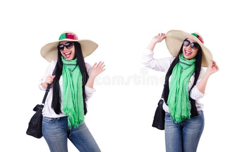 Jeune femme pr?te pour des vacances d'?t? images stock