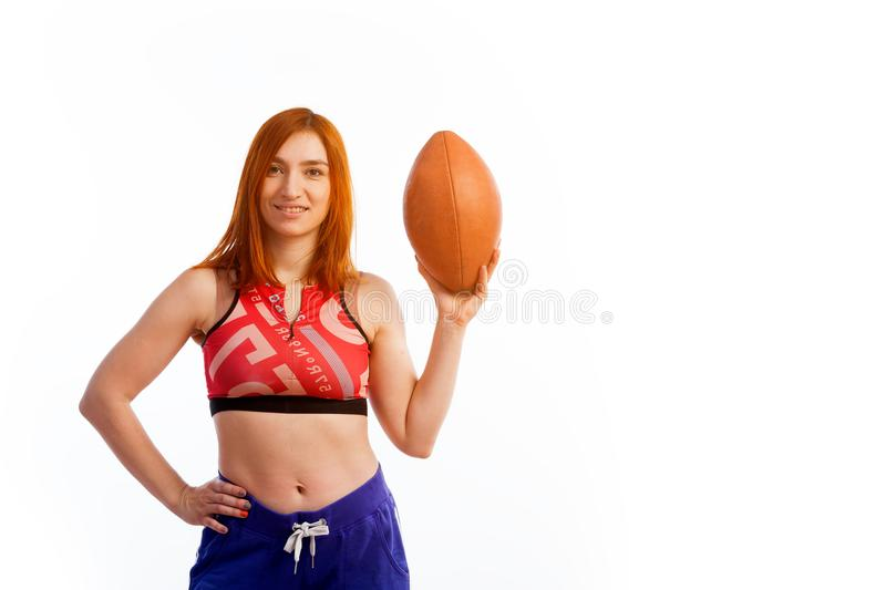Jeune femme red-haired photo stock