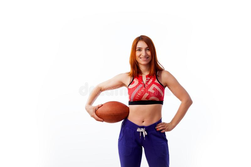 Jeune femme red-haired photographie stock