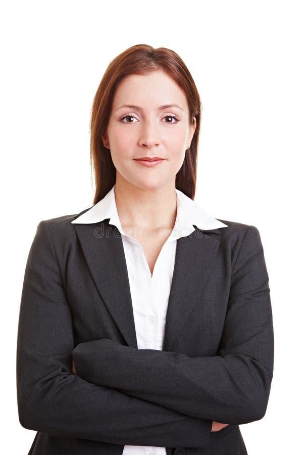 Jeune femme se présentant image libre de droits