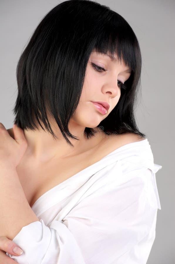 Jeune femme sensuelle mignonne images libres de droits