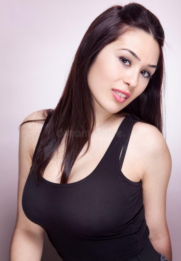 Jeune femme sexy Busty image stock