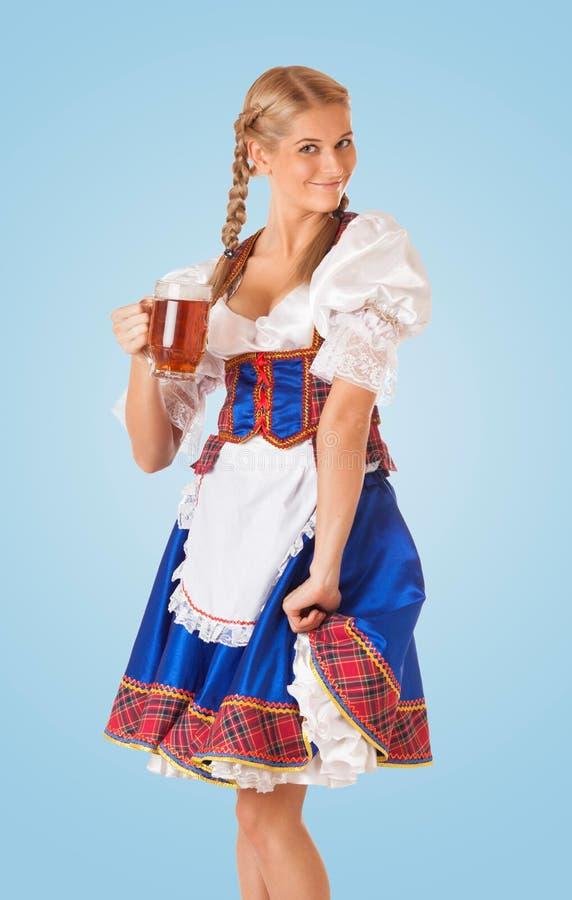 Jeune femme sexy d'Oktoberfest images stock