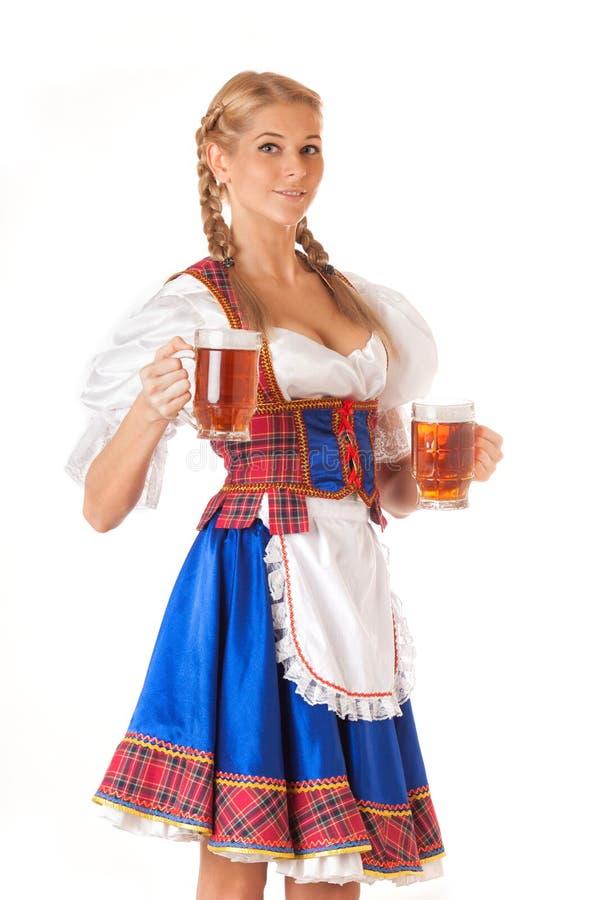 Jeune femme sexy d'Oktoberfest photo stock