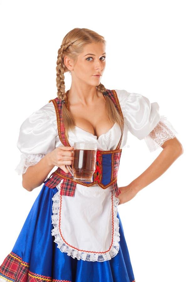Jeune femme sexy d'Oktoberfest photographie stock libre de droits