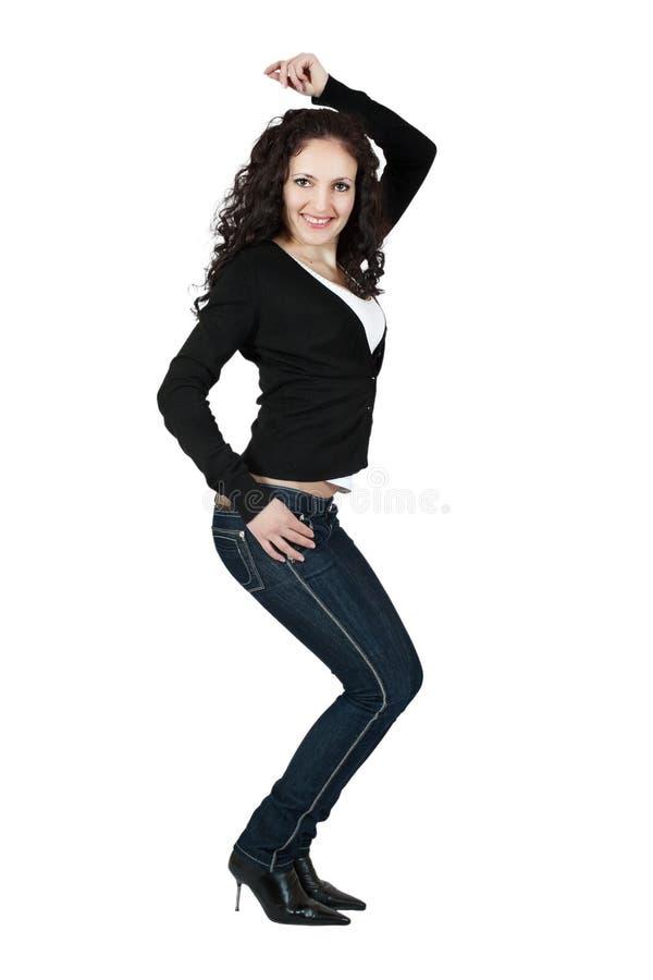 Jeune femme sexy dans des jeans. images libres de droits