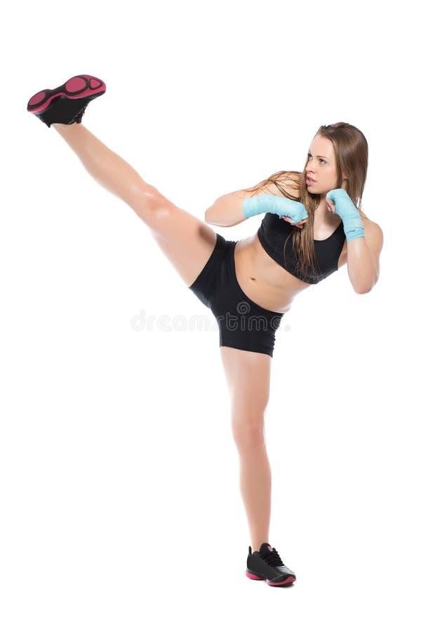 Jeune femme sportive images libres de droits