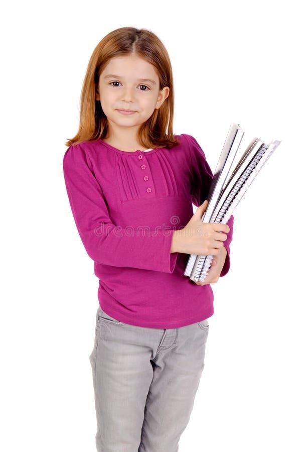 Jeune fille à l'école images stock