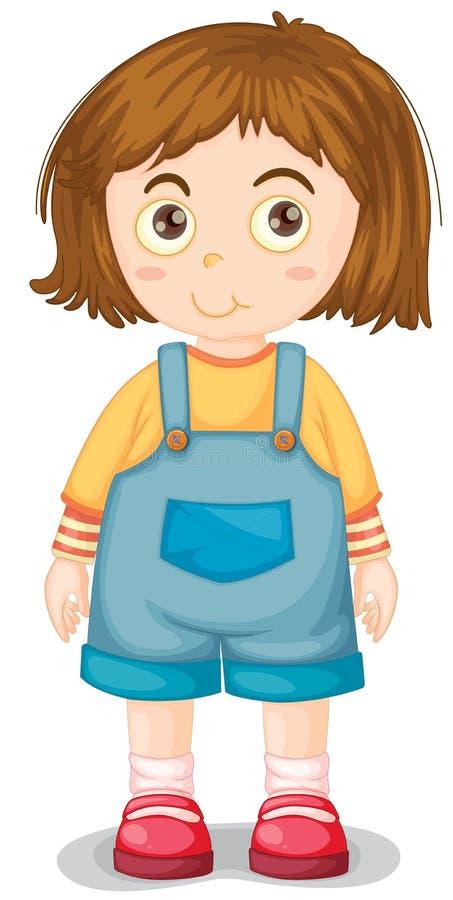 Jeune fille illustration de vecteur
