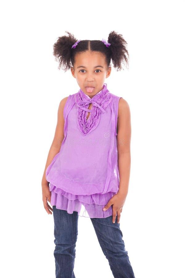 Jeune fille africaine sans dents photo stock