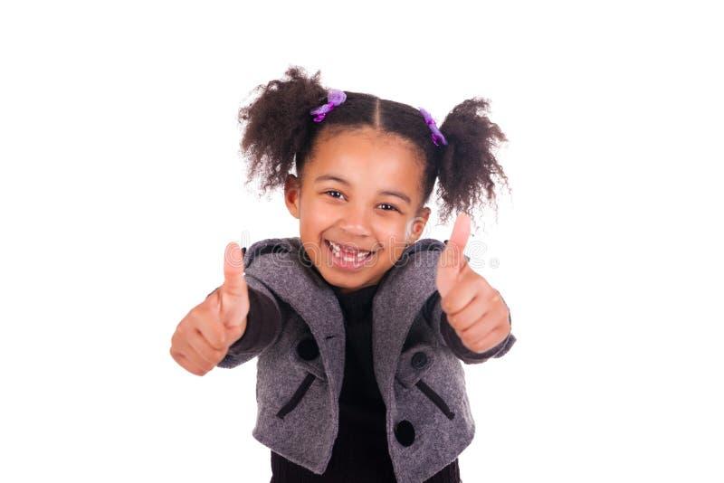 Jeune fille africaine sans dents images stock
