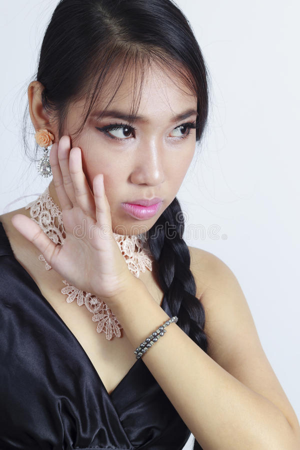 Jeune fille asiatique photo stock