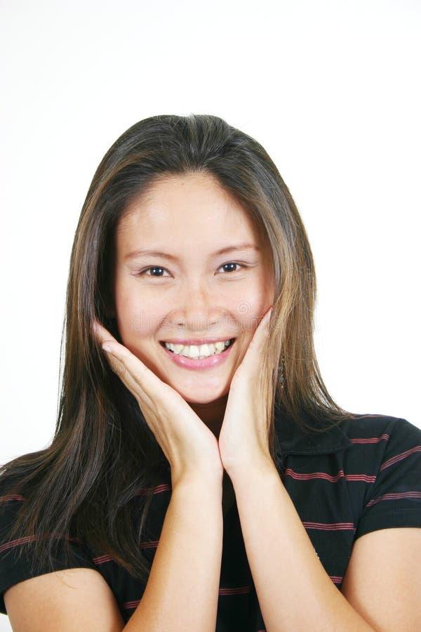 Jeune Fille Asiatique Attirante 4 Images libres de droits