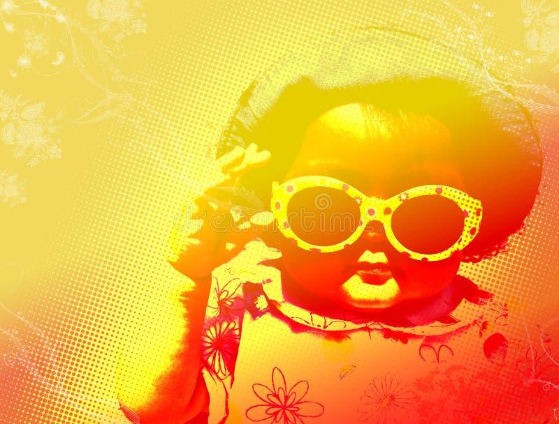 Jeune fille avec des lunettes de soleil photo libre de droits
